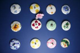 Tapones de porcelana decorados  Tapones de lavabo decorados