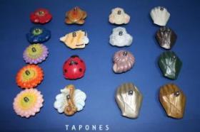 Tapones de cristal decorados  Tapones de lavabo decorados